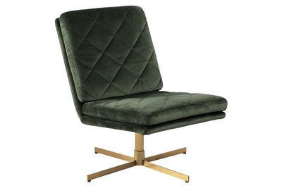 Annisse fauteuil donkergroene stof
