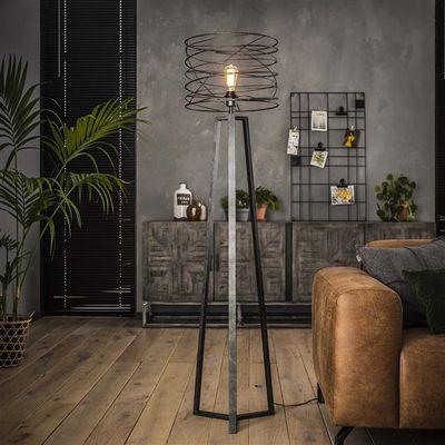 Vloerlamp Fürstenberg met metalen driepoot