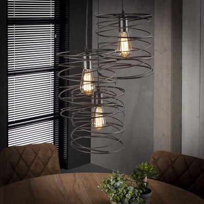 Hanglamp Eppelheim van gekruld metaal