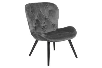 Fauteuil Fjelsted in grijze velours stof