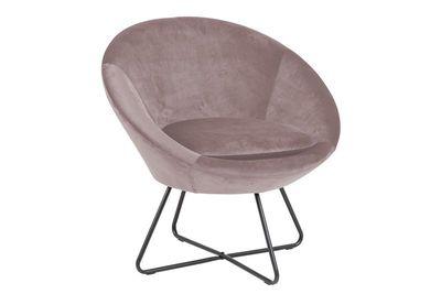 Aulum fauteuil rose stof