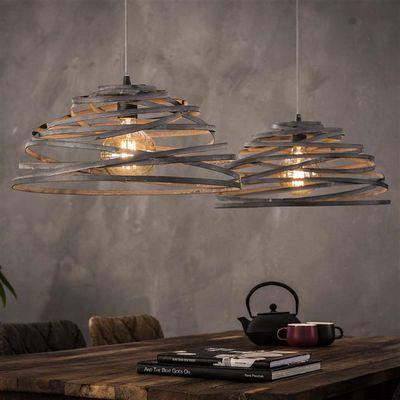 Hanglamp Erfstadt van gedraaid staaldraad