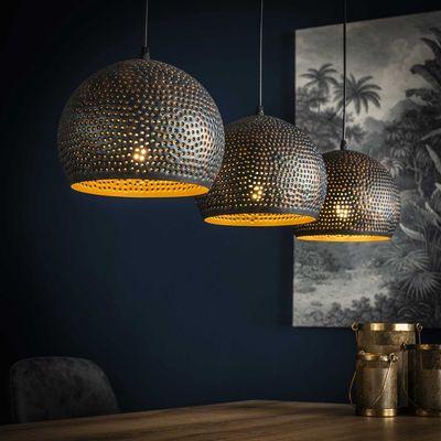 Hanglamp Arnstein met 3 bolle kappen