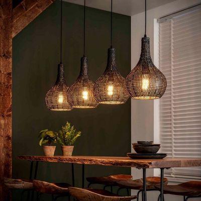 Hanglamp Bedburg met 4 kegelvormige metalen kappen