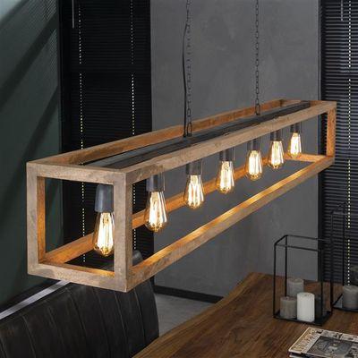 Hanglamp Erwitte met rechthoekig houten frame