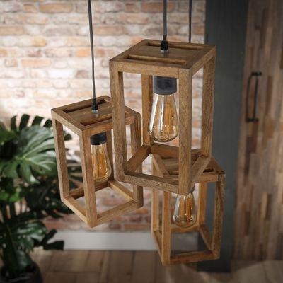 Hanglamp Bassum, mango hout