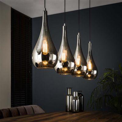 Hanglamp Falkenberg in zilveren druppelvorm