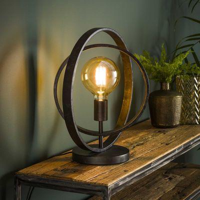 Tafellamp Filderstadt van draaibare metalen ringen
