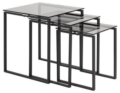 3-delige tafelset Gandrup met rookglas blad