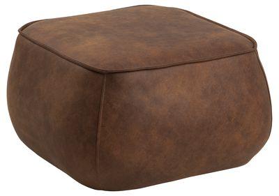 Hocker Elling 60x60 cm in cognac stof