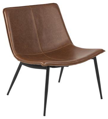 fauteuil Glesborg in cognac bruin PU leather