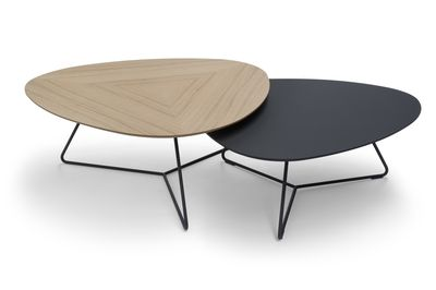 Brees New World salontafelset Twinny eiken + fenix zwart