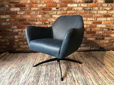 fauteuil Dyyk - Limoni blauw leder