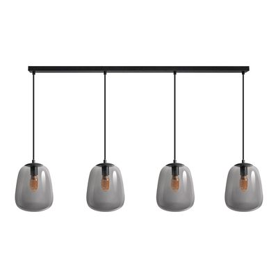 ETH Expo Trading hanglamp Benn met 4 glazen kappen 33 cm