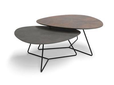 Brees New World salontafelset Twinny HPL brons + agaat grijs