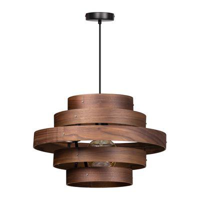 Hanglamp Walnut met 5 houten ringen