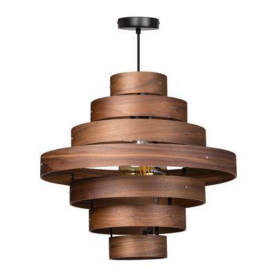 Hanglamp Walnut met 7 houten ringen