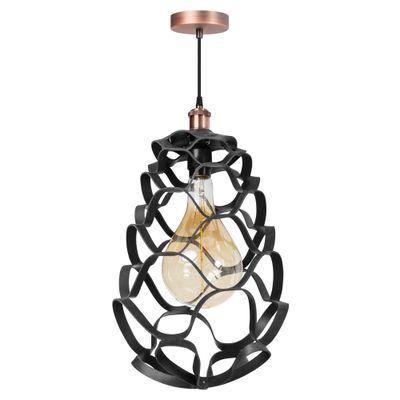 ETH Expo Trading hanglamp Buffalo in zwart leer
