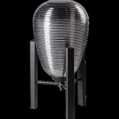 ETH Expo Trading tafellamp Carl high smoke glas