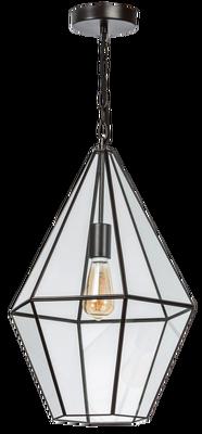 ETH Expo Trading hanglamp Fame metaal frame helder glas
