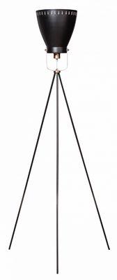 Vloerlamp Acate zwart-koper