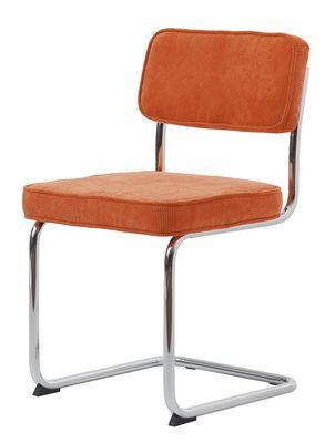 Brovst buisframe rib stoel oranje