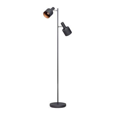 ETH Expo Trading Sledge vloerlamp zwart met 2 verstelbare kappen
