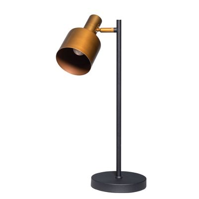 Sledge tafellamp zwart-goud met verstelbare kap