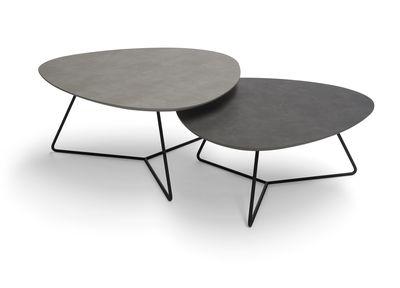 Brees New World salontafelset Twinny HPL alu grijs + agaat grijs