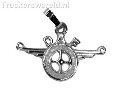 Daf logo Klein Zilver
