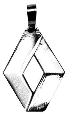 Renault logo Zilver