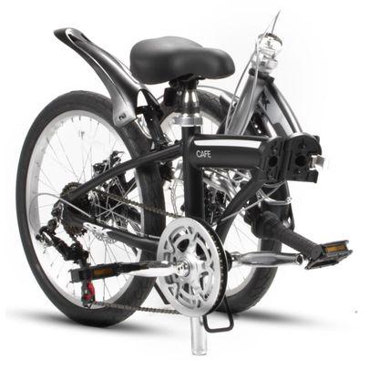 SBK Bike Vouwfiets 20 inch 6 Versnellingen Schijfremmen Mat Zwart.3