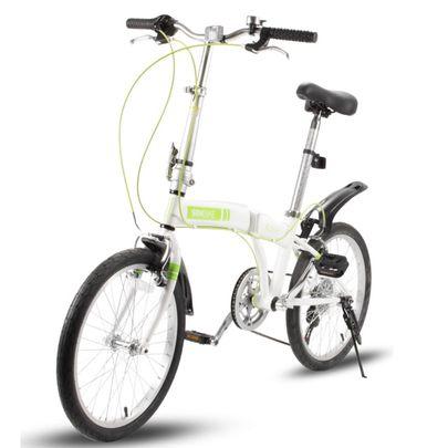 SBK Bike Vouwfiets 20 inch 6 Versnellingen Wit Groen.1