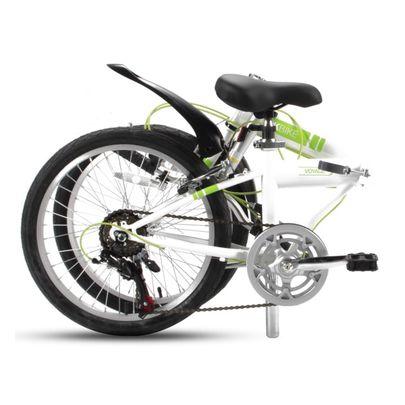 SBK Bike Vouwfiets 20 inch 6 Versnellingen Wit Groen.2