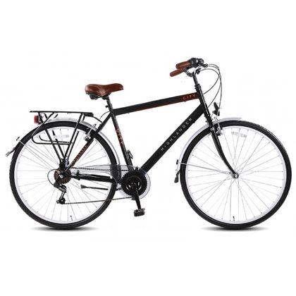 Highlander Citybike Heren 6 Versnellingen 28 inch Black