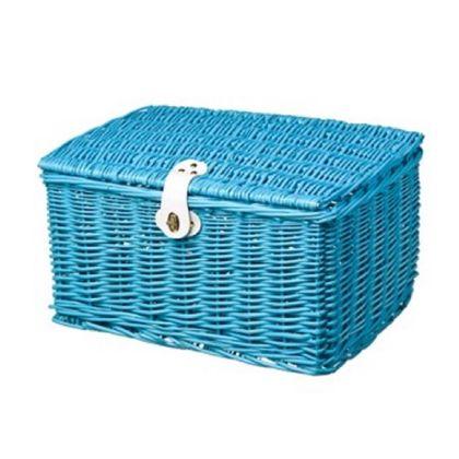 Mand Riet Medium Blauw 48x36x26