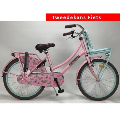 Popal Daily Dutch Meisjesfiets 20 inch Roze Turquoise Tweede Kans