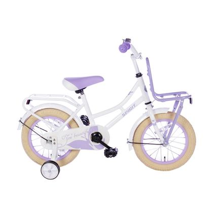 Spirit Omafiets 12 inch Wit Paars