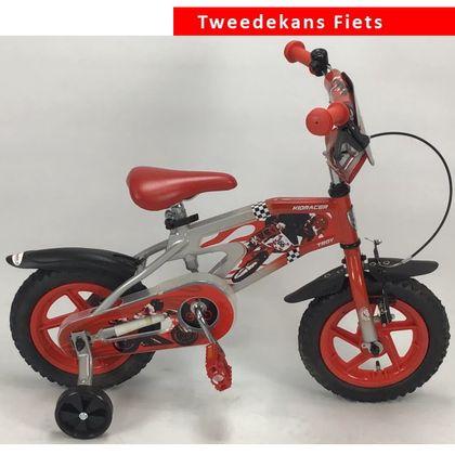 Troy Kids Racer Jongensfiets 12 inch Silver Red Tweede Kans