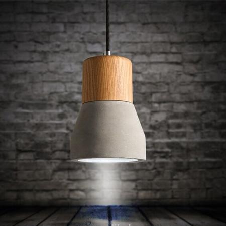 Hanglamp Beton met Hout