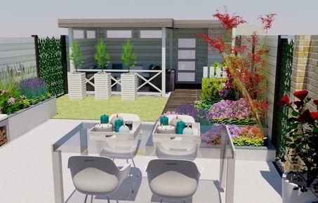Tuin Ontwerpen Voorbeelden : Tuinontwerp d inspiratie standaard tuin voorbeelden