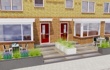 Tuinontwerp 3d inspiratie standaard tuin voorbeelden for Voortuin strak modern
