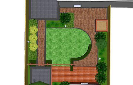 Tuinontwerp 3d inspiratie standaard tuin voorbeelden for Tuinontwerp tussenwoning