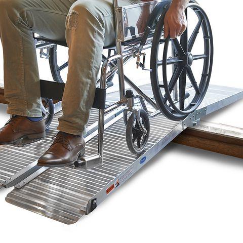 Oprijplaat drempelhulp inklapbaar - 180 cm rijplaat oprijplank aluminium