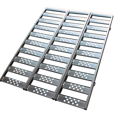 Aluminium oprijplaat inhaakbaar - 195 cm (3 stuks)