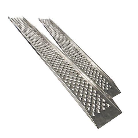 Aluminium oprijplaat met opstaande rand - 200 cm - 2 stuks