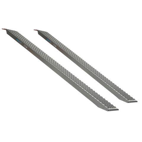 Aluminium oprijplaat - 200 cm - 300 kg - 2 stuks