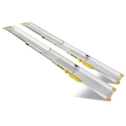 Dubbel uitschuifbare oprijplaat - 240 cm (2 stuks)