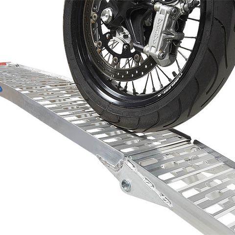 Extra sterke oprijplaat voor motoren - 225 cm rijplaat rijgoot