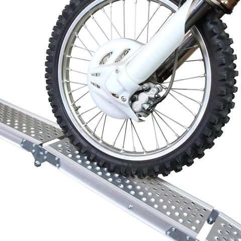 Aluminium oprijplaat inklapbaar - 195 cm rijgoot rijplank